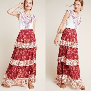 FARM RIO x ANTHROPOLOGIE Portia Floral Maxi Skirt